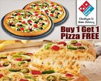 Dominos Offer Buy 1 Get 1 for Rs. 400 at Shopaholic Indians